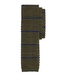 Stripe Knit Tie