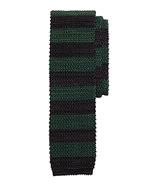 Wide Stripe Knit Tie