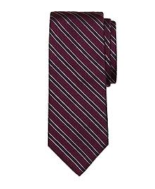 Textured Frame Stripe Tie
