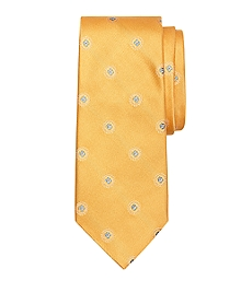 Textured Spaced Medallion Tie
