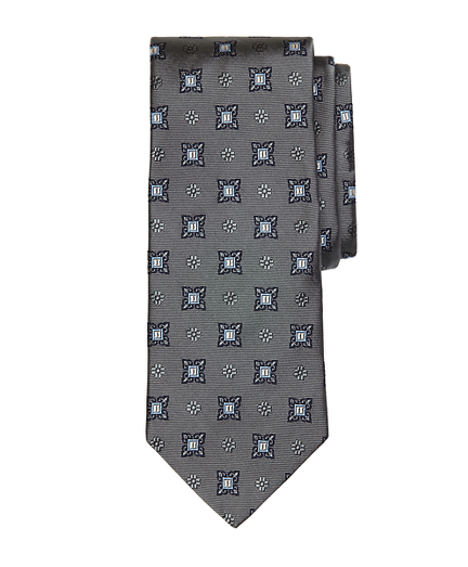 Large Spaced Medallion Tie