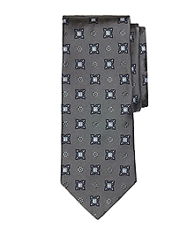 Large Spaced Medallion Tie