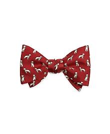 Dog Print Bow Tie