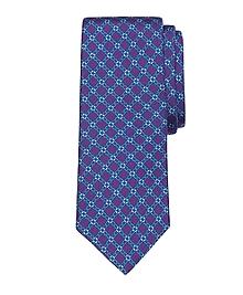 Diamond Link Print Tie
