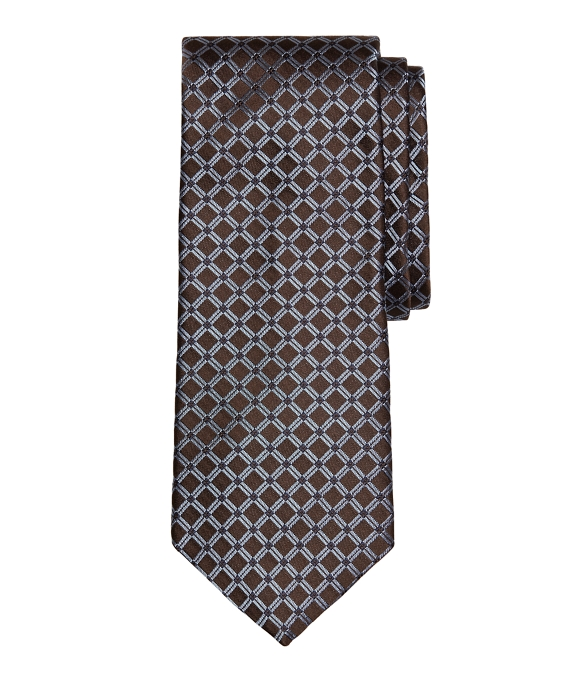 Four-Dot Windowpane Tie