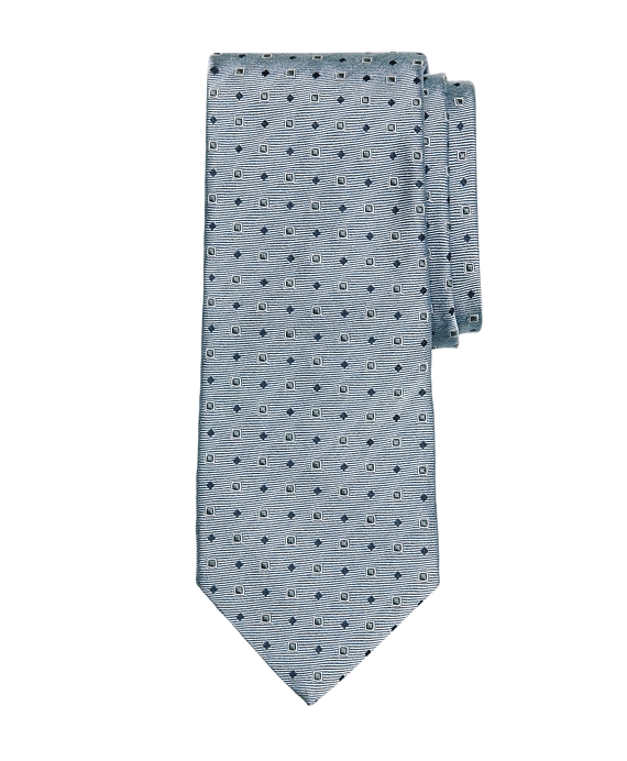 Framed Square and Dot Tie