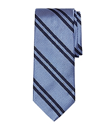 Textured Double Stripe Tie