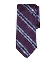 Textured Double Stripe Tie