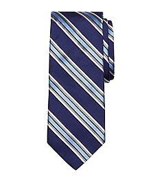 Satin Framed Stripe Tie
