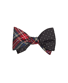 Tartan with Textured Dot Reversible Bow Tie