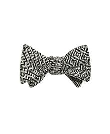 Herringbone with Basketweave Reversible Bow Tie