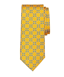 Connect Link Circle Print Tie