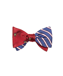 Crest with Mini BB#2 Stripe Reversible Bow Tie
