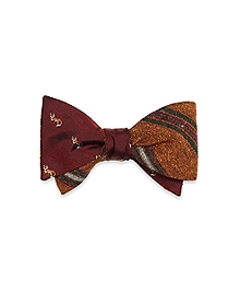 Alternating Frame Stripe with Fox Reversible Bow Tie
