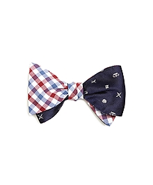 Gingham with Heraldic Reversible Bow Tie