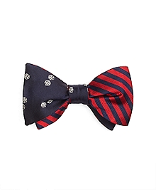 Dice with BB#5 Stripe Reversible Bow Tie