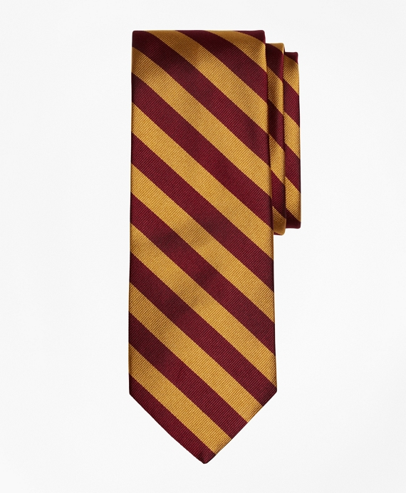 BB#4 Repp Tie Gold-Burgundy