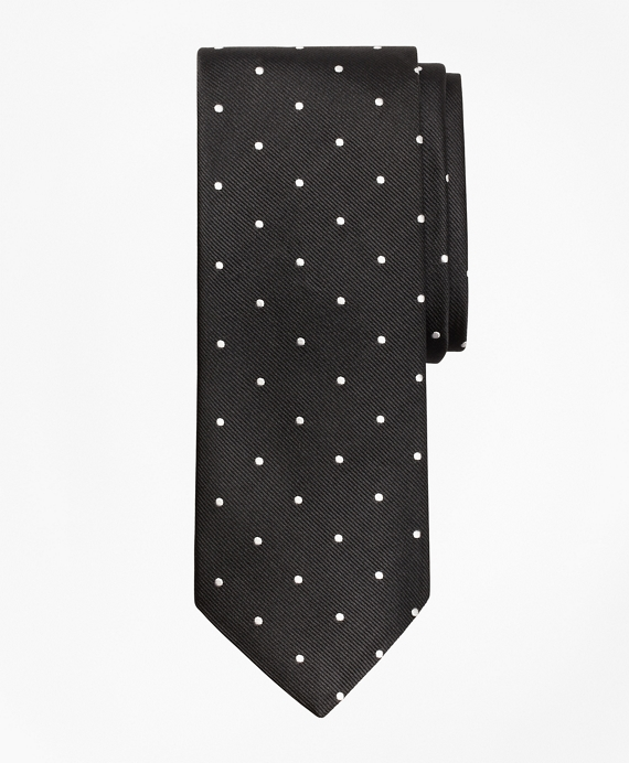 Dot Repp Tie Black-White