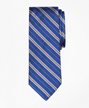 Alternating Framed Stripe Tie