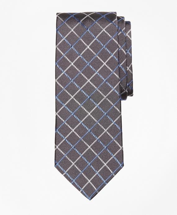 Double Windowpane Tie Grey