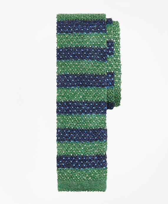 Melange Bold Stripe Knit Tie