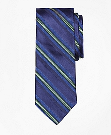 Textured Split Stripe Tie