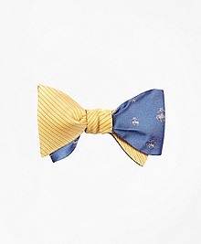Horizontal Solid with Golden Fleece® Reversible Bow Tie