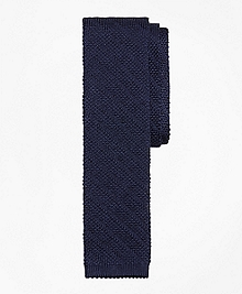 Textured Stripe Knit Tie