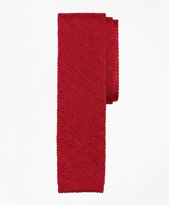 Textured Stripe Knit Tie