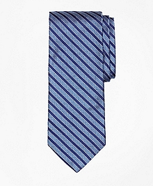 Textured Framed Stripe Tie