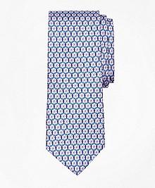 Medallion Link Print Tie