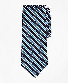 Framed Twill Stripe Tie