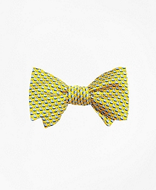 Sailboat Print Bow Tie