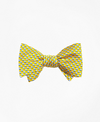 Sailboat Print Bow Tie