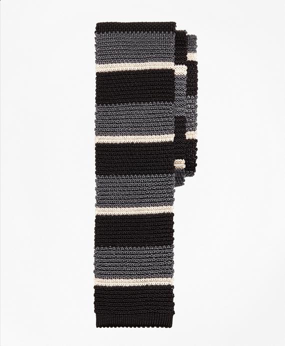 Bold Stripe Knit Tie
