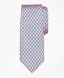 Flag Link Print Tie