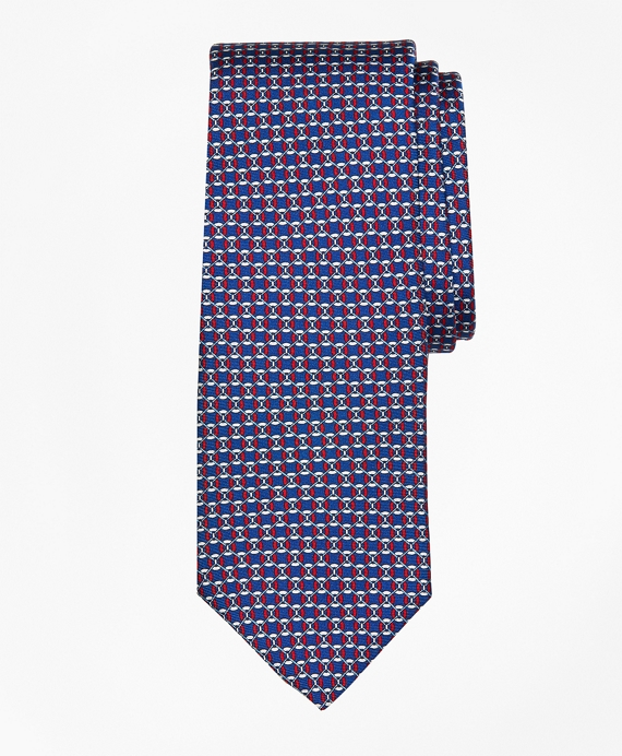Floatation Link Print Tie