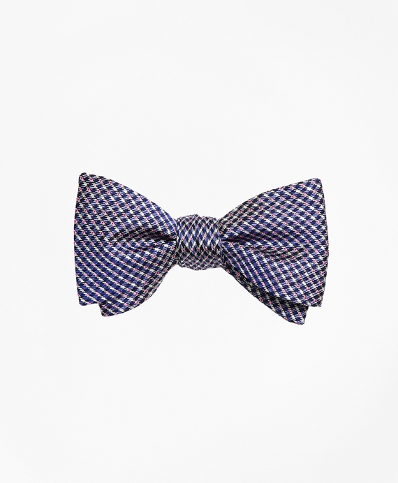 Gingham Dot Bow Tie Blue