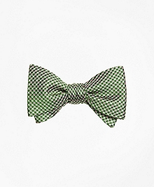 Gingham Dot Bow Tie