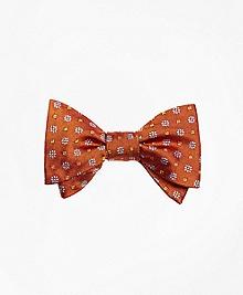 Parquet Flower Bow Tie