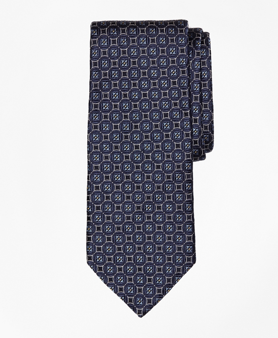 Circle and Square Medallion Tie