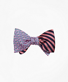 Ladybugs with BB#5 Stripe  Reversible Bow Tie