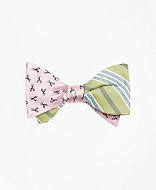 Scissors with Triple Stripe Reversible Bow Tie