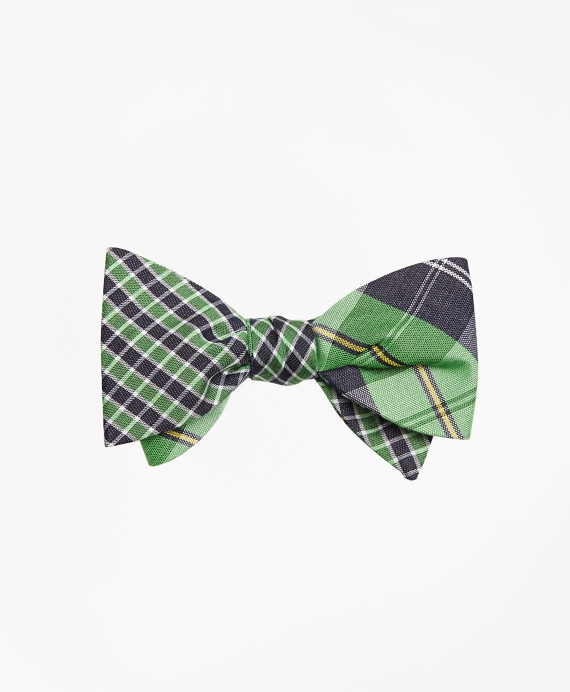 Gingham with Plaid Reversible Bow Tie
