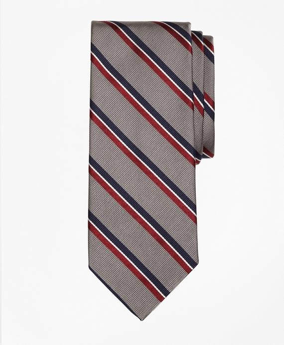 Split Bar Stripe Tie