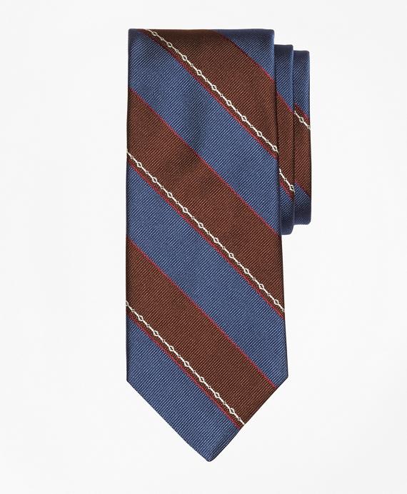 Woven Link Stripe Tie