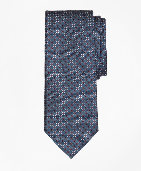 Fancy Dot Tie Blue