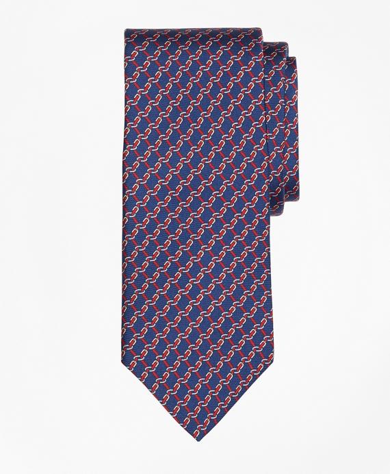 Buckle Link Print Tie