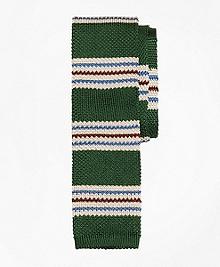 Triple Stripe Knit Tie