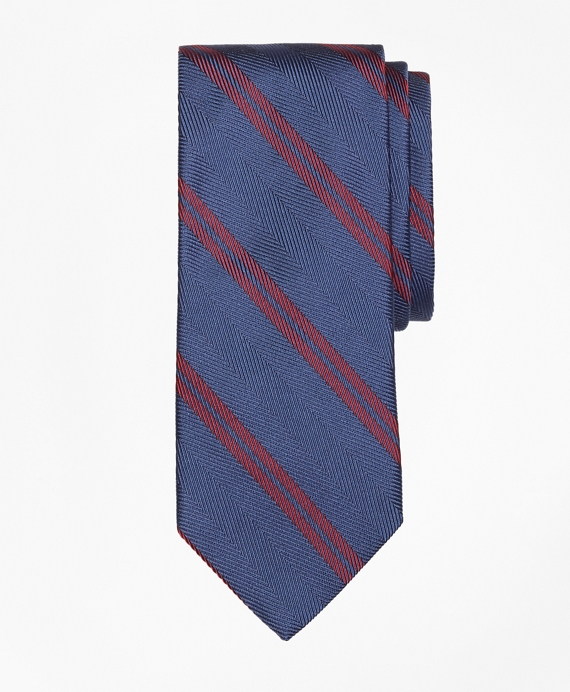 Herringbone Double Stripe Tie